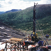 Drilling on the Fyre Lake property