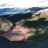 View overlooking the north end of the Kona deposit